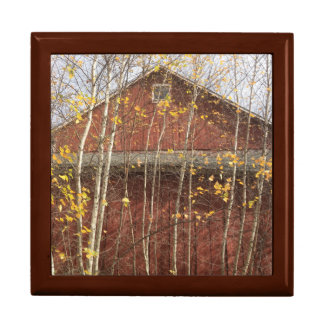 Autumn Country Barn Keepsake Box