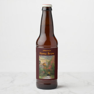 Autumn Country Road Beer Label