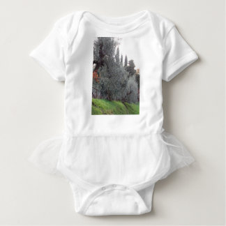 Autumn countryside with olive trees Tuscany, Italy Baby Bodysuit