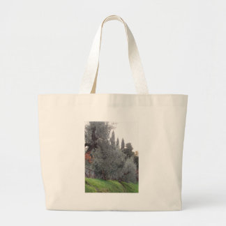 Autumn countryside with olive trees Tuscany, Italy Large Tote Bag