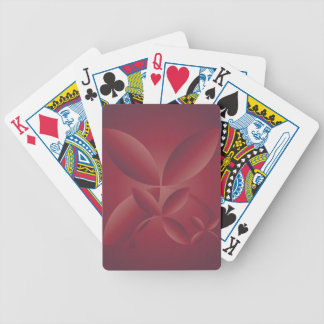autumn crimson bicycle playing cards