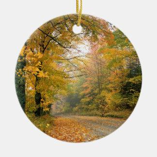 Autumn Crisp Afternoon Vermont Ceramic Ornament