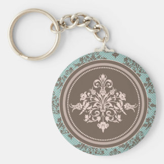 Autumn Damask Keychain