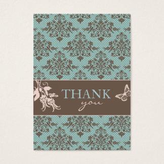 Autumn Damask TY Notecard C2 Business Card