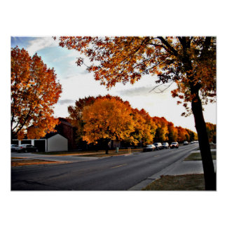 Autumn Day in Fargo Poster