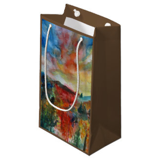 Autumn day watercolor art landscape Gift Bag