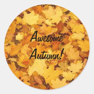 Autumn-Decorate Anything Round Sticker