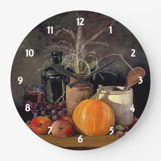 Autumn Decorations on Table Clock