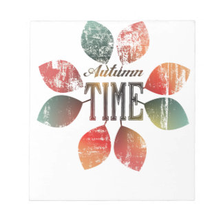 autumn design notepad