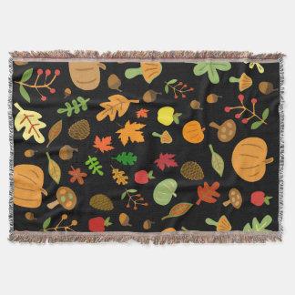 Autumn Design Throw Blanket