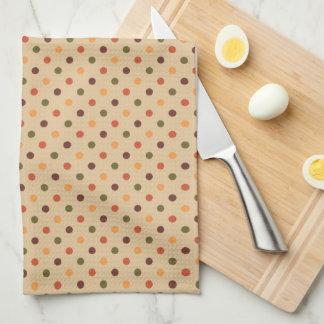 Autumn Dots Kitchen Towel