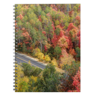 Autumn Drive Through East Canyon -road Spiral Note Books