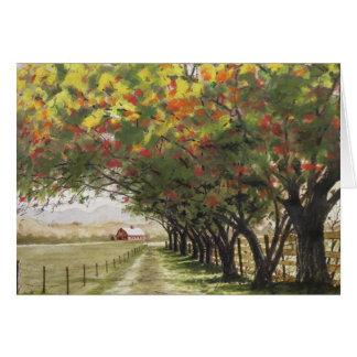 Autumn driveway card