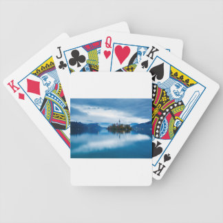 Autumn dusk at Lake Bled Bicycle Playing Cards