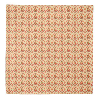 Autumn Earthy Ikat Hand painted Paisley Duvet Cover