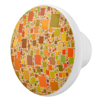 Autumn Echo Tiled Artwork Design Ceramic Knob