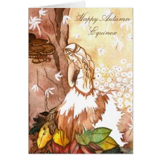 Autumn Equinox Dandelion Fairy Greeting Card