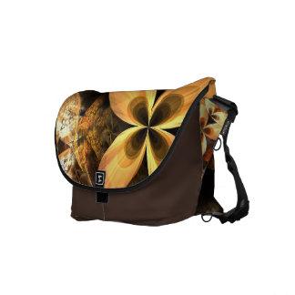 Autumn Equinox Flame Fractal Medium Size Messenger Bag