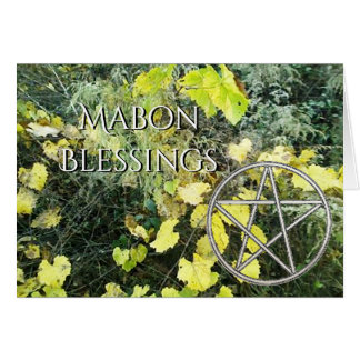 Autumn Equinox Grapevine Mabon Harvest Home Card