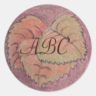 Autumn Equinox Leaves Classic Round Sticker