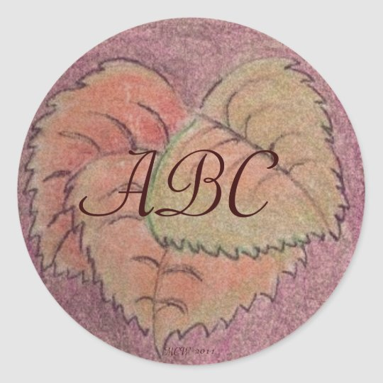 Autumn Equinox Leaves Classic Round Sticker