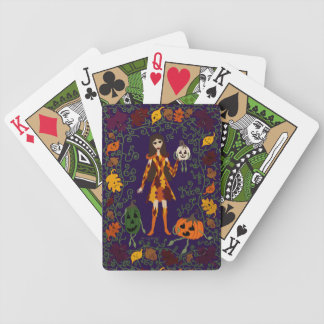 Autumn Faerie Bicycle Playing Cards