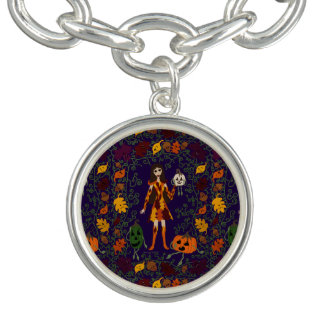 Autumn Faerie Charm Bracelet