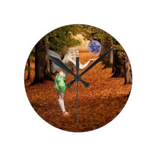 Autumn Faerie Clock