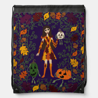 Autumn Faerie Drawstring Bag