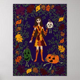 Autumn Faerie Poster