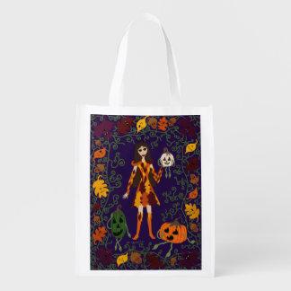 Autumn Faerie Reusable Grocery Bag