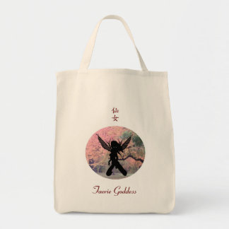 Autumn Fairy 04 Grocery Tote Bag