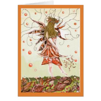 Autumn Fairy blank card
