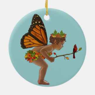 Autumn Fairy Ceramic Ornament