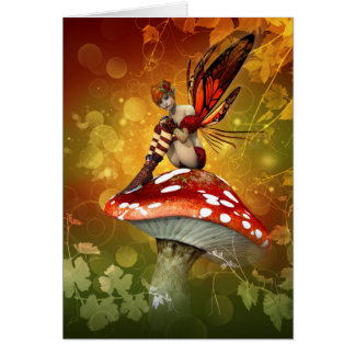 Autumn Fairy Note Card