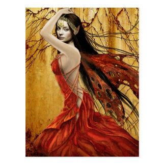 Autumn Fairy Postcard
