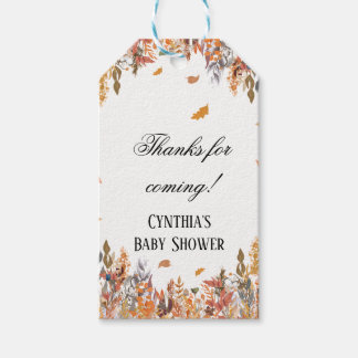 Autumn Fall Baby Shower Favor Tags