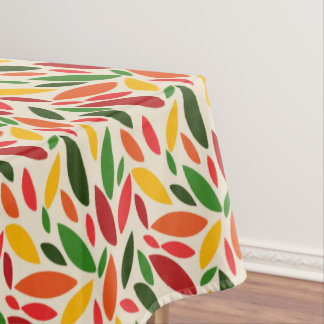 Autumn fall color leaves tablecloth