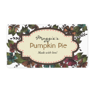 Autumn Fall Floral Baking Labels