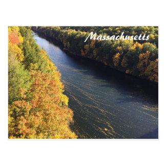 Autumn Fall Foliage Massachusetts Postcard