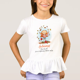 Autumn fall girl name meaning joy t-shirt
