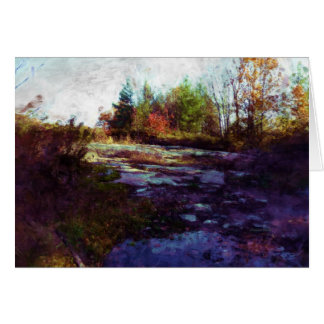 """Autumn"" Fall Landscape Art Card"