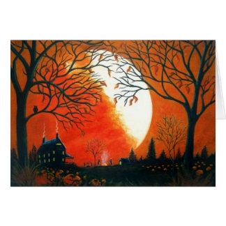 Autumn,fall,landscape,seasonal,leaves,pumpkins Card