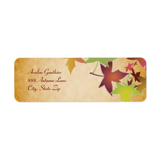 Autumn Fall Leaf Thanksgiving Address Label