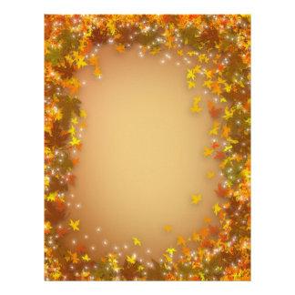 Autumn Fall leaves background for letter Letterhead