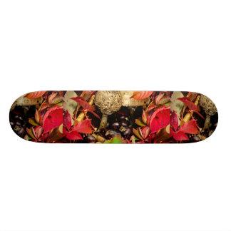 Autumn Fall leaves, chestnuts and mushrooms Custom Skateboard