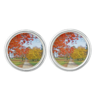 Autumn Fall Leaves Cuff Links