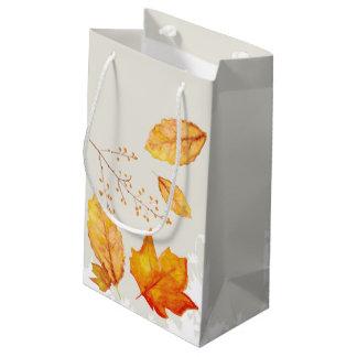 Autumn Fall Leaves Gift Bag