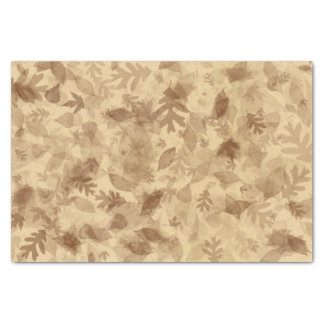 Autumn-Fall Leaves in Sepia Brown Tissue Paper