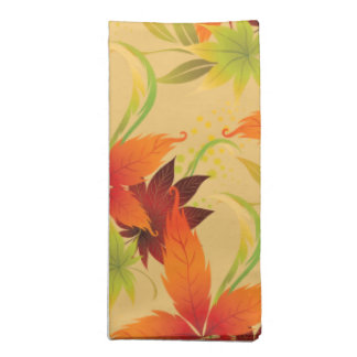 Autumn Fall Leaves Napkins Set